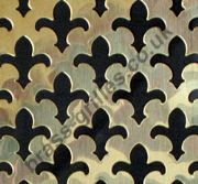 Decorative Polished Brass Grille - Fleur De Lys (2000mm x 1000mm x 0.7mm)